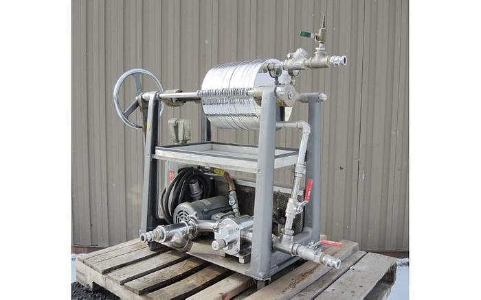USED FILTER PRESS, 12'' STAR FILTER PRESS, STAINLESS STEEL