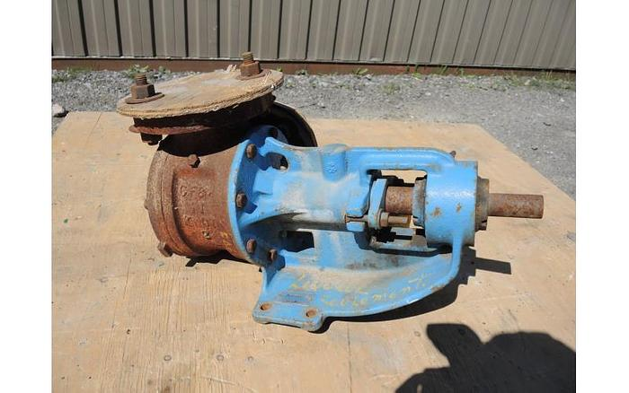 "Used USED GEAR PUMP, 2"" X 2"" INLET & OUTLET, CAST IRON, JACKETED"