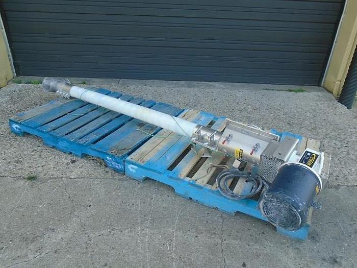 "Used USED SCREW CONVEYOR, 4"" DIAMETER X 72"" LONG, STAINLESS STEEL, SANITARY, ''FLEXICON''"