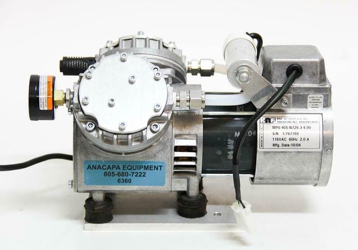 Used KNF Neuberger Inc. 405-N726.3-4.90 Vacuum Pump,115VAC, 2.0A, 60Hz (6360)