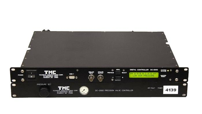 Used TMC DC-2000 Digital Controller with DC-2000 Precision Valve Controller (4139)