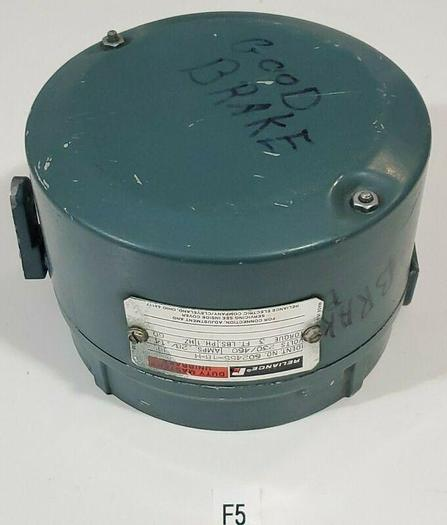 Used *PREOWNE* Reliance 602455-18-H FE Motor Brake 230/460V .28/.14A  3Ft Lbs Torque