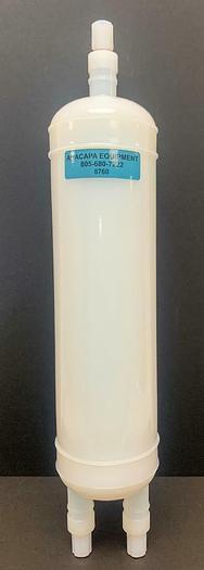 """Used Savillex 2000 mL 3 Port Closed Sealed Jar w/ Molded Drain 21"""" L X 4.5"""" D (8760)W"""