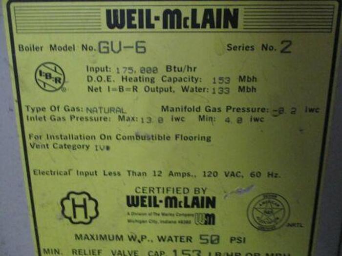 Weil-Mclain GV-6