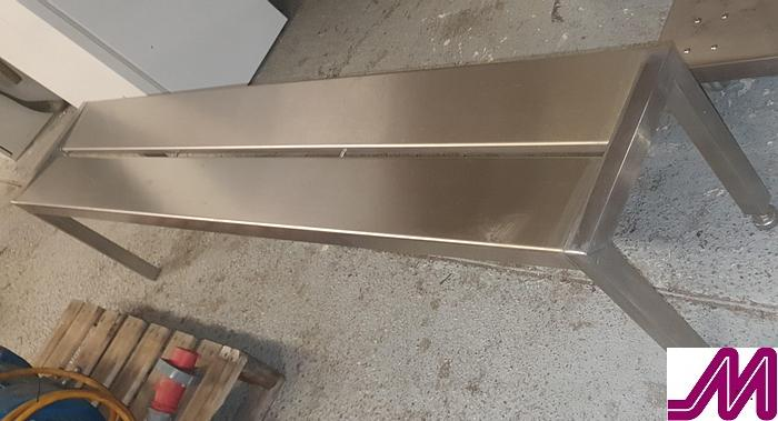 Used Stainless Steel Step Over Bench