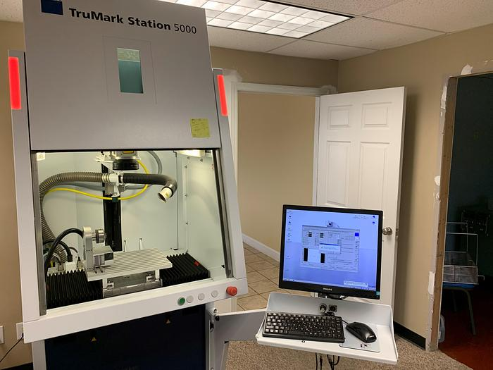 Used 2015 Trumpf TruMark 5020 with Workstation