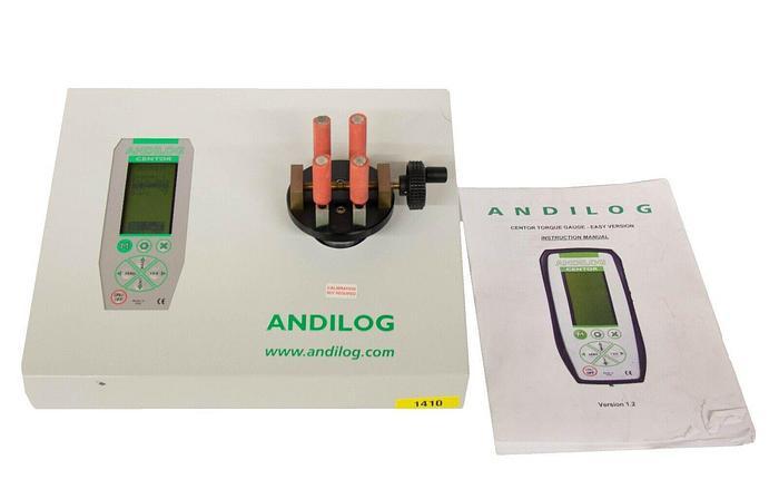 Used Andilog Centormeter EA Centor Torque Gauge Calibration Bench Packaging Test 1410