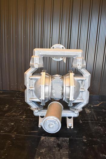 """Used USED ARO DIAPHRAGM PUMP, 2"""" X 2"""" INLET & OUTLET, CAST STAINLESS STEEL, FLAP VALVE"""