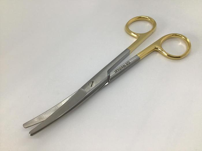 Scissor Surgical Dissecting Mayo Tungsten Carbide Curved 150mm (6in)