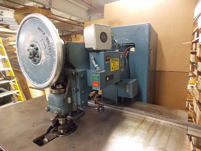 WHITNEY 20 TON SINGLE END GEARED PUNCH PRESS