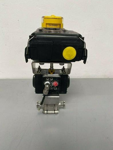 "Used SVF Flow Controls AS11-2BAB34 3-Way Sanitary Ball 3/4"" Valve"
