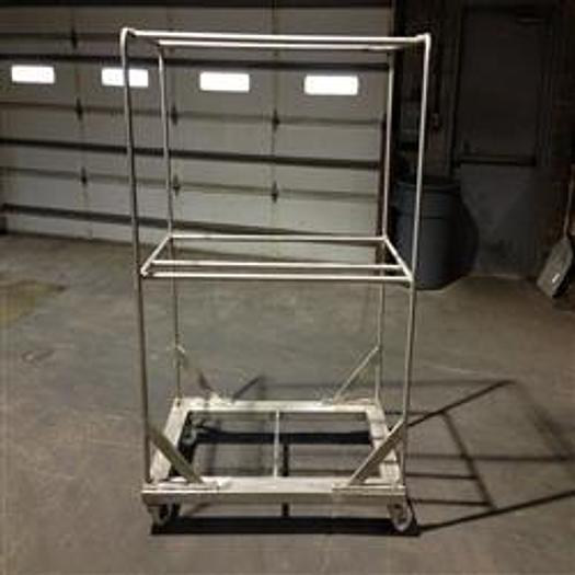 """Used Stainless Steel Cart, approx 50"""" long x 30"""" deep x 68"""" high (10) available"""