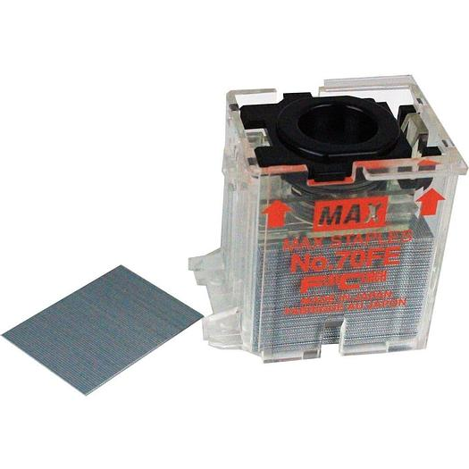 Max No. 70FE Flat Clinch Staple Cartridge For EH-70F & IDEAL 8560