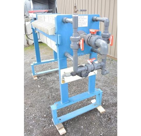 USED FILTER PRESS, RECESSED PLATE GASKETED, 470 MM X 470 MM, POLYPROPYLENE