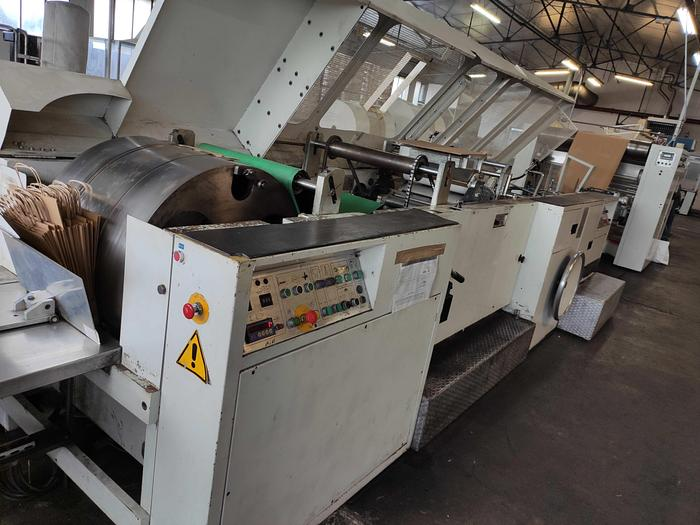 Used CURIONI SUN MASTER 540 - SOS paper bag making machine with twisted handle unit (1993) 1
