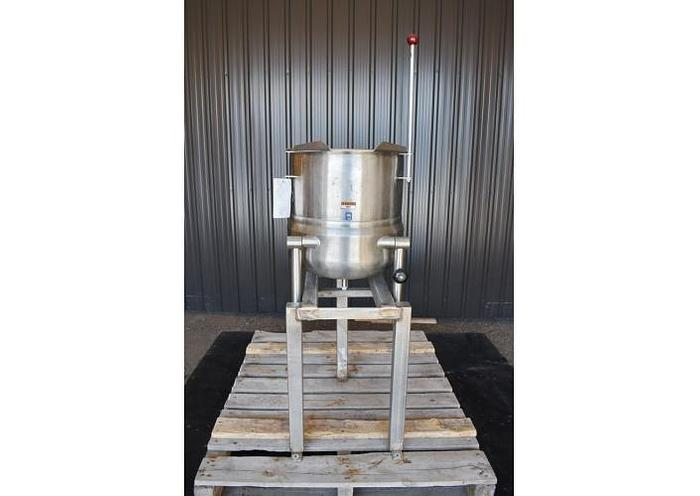 Used USED 12 GALLON JACKETED TANK (TILTING KETTLE), STAINLESS STEEL