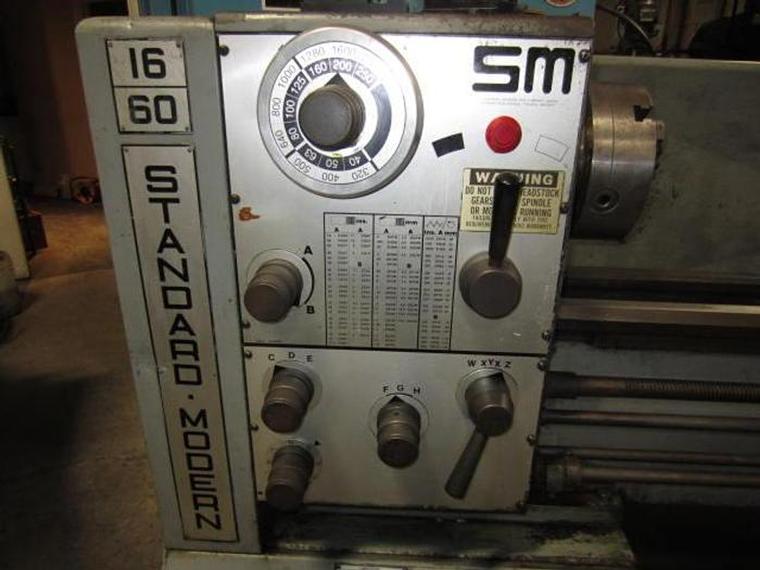 "16"" x 60"" Standard Modern SM-1660 Heavy Duty Engine Lathe 5602"