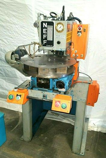Used Neff 2 Ton Press Model 6402 with Rotary Table Rapid Assembly Stamping Pressing