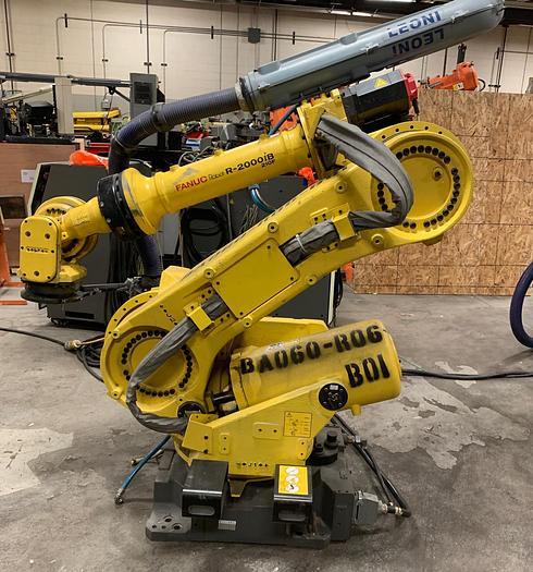 Used FANUC R2000iB/210F 6 AXIS CNC ROBOT W/R30iA CONTROLS 210KG X 2655mm REACH