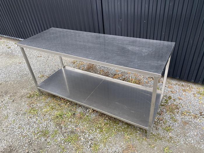 Begagnad Arbetsbord rostfritt 180x65cm