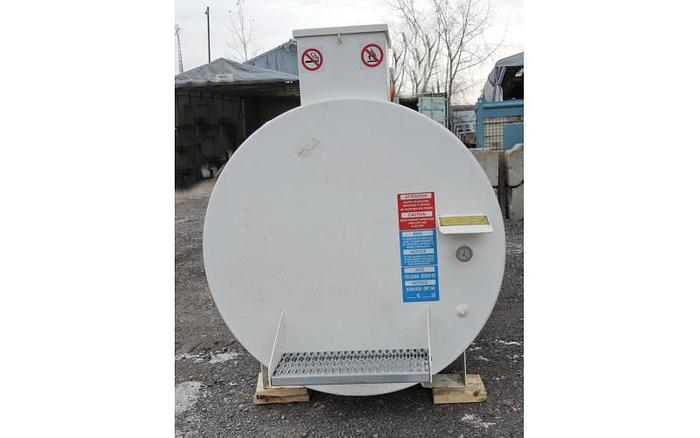 USED 1235 GALLON TANK, CARBON STEEL, HORIZONTAL, DOUBLE WALL VACUUM MONITORED FUEL TANK