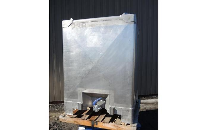 Used USED 350 GALLON TANK (TOTE), STAINLESS STEEL