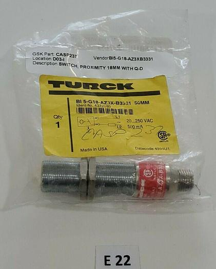 *NEW* Turck BI 5-G18-AZ3X-B33