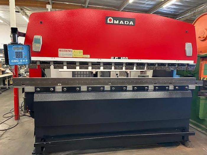 "Used Amada RG-100 Hydraulic Press Brake Automec CNC Backgauge 110 TON X 122"" #5807"