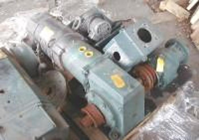 Used 10 HP Baldor DC motor with gearbox.
