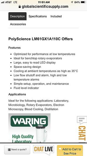 PolyScience  LM61GX1A110C