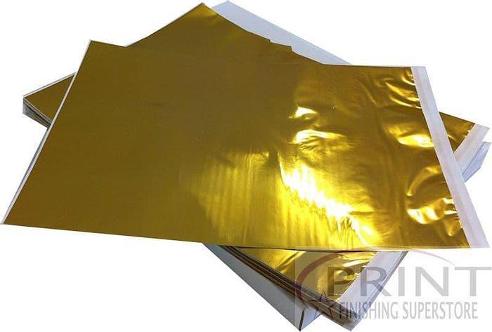 Omnicrom Colour Transfer A4 Metallic Foils - Gold Film (100)