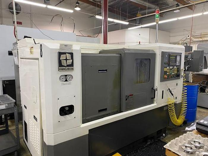 Used 2005 Hwacheon Hi-Tech 200A CNC Turning Center Lathe #5743