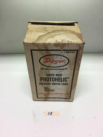 New! DWYER Photohelic Pressure Switch/Gage SERIES 3000 Warranty!