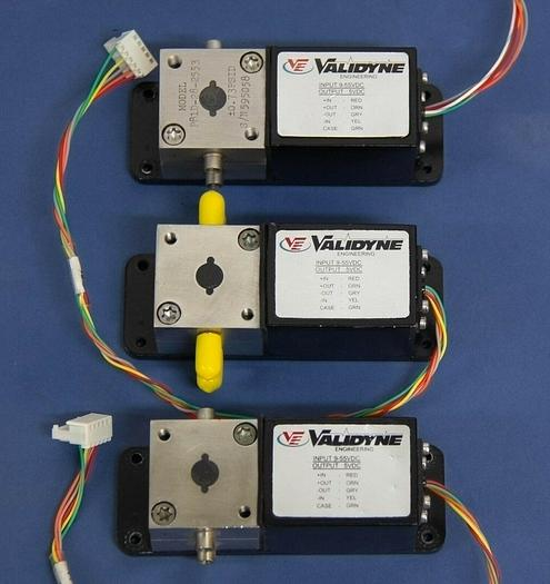 Used Validyne Transducer P81D-28-2553 Range ± .73 PSID with Wiring Lot of 3 (5826)