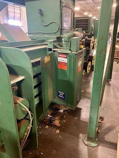 Used BALEMASTER E-810 AUTOTIE BALER WITH CONVEYOR AND BLOAPCO SHREDDER