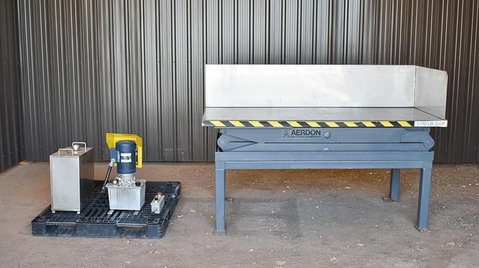 Used AERDON DOUBLE SCISSOR LIFT TABLE, 1000 LBS CAPACITY