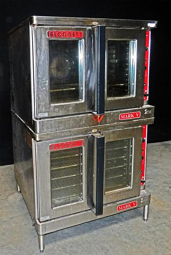 Used USED BLODGETT DOUBLE STACK ELECTRIC CONVECTION OVEN, MARK V