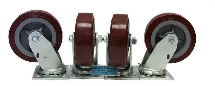 "Colson Polyurethane Wheel Heavy Duty Swivel Caster 6"" x 2"" NEW Lot of 4 (8675)W"