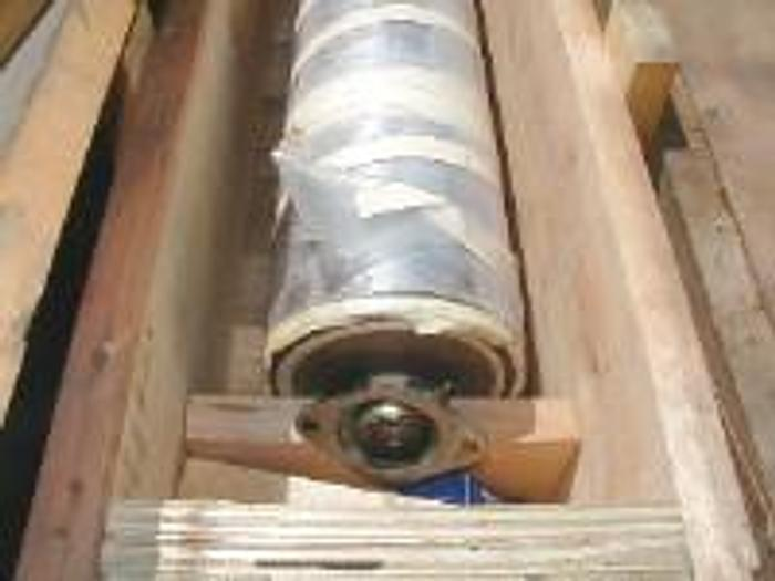 """Used 106"""" rubber roll, 8"""" diameter."""