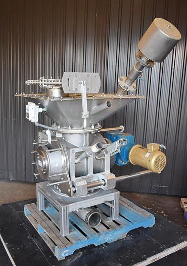 """Used USED ROTARY AIR LOCK VALVE, SIZE: 14"""" X 14"""", STAINLESS STEEL, CLEAN-IN-PLACE"""