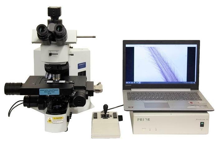 Used Olympus BX51 Microscope w/ Prior ProScan II Motorized Stage + More USED (9019)R