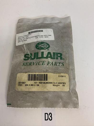 New Repair Kit for Sullair Oil 1667 Fast Shipping!
