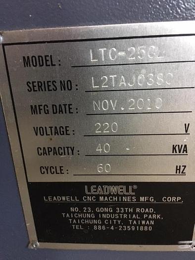 2010 Leadwell LTC-25CL CNC Lathe