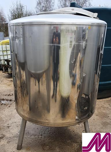 Used Stainless Steel 800 Litre Grundy Tank
