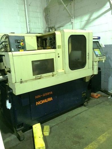 Used Nomura NN-25RYA Swiss Style CNC lathe