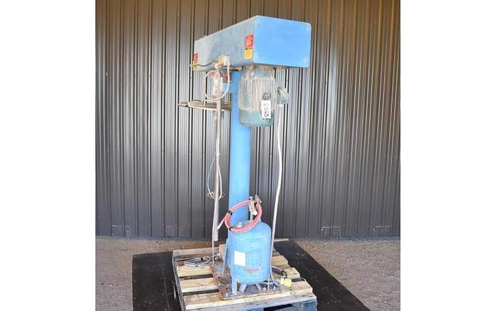 USED COWLES DISPERSER/DISSOLVER, 10 HP, STAINLESS STEEL