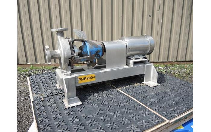 "USED CENTRIFUGAL PUMP, 1.5"" X 1"" INLET & OUTLET, STAINLESS STEEL"