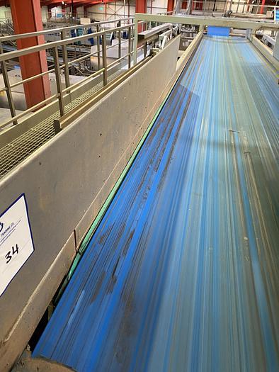 Used Stainless Steel Conveyor Belt 6m L 1m W
