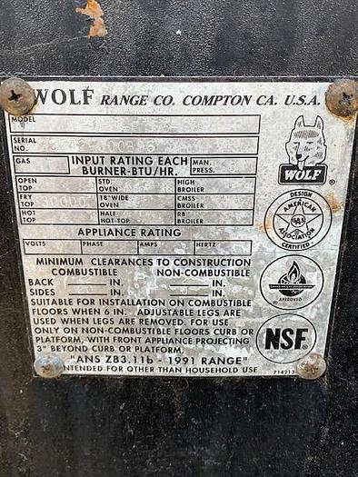 Wolf Flat Top Griddle