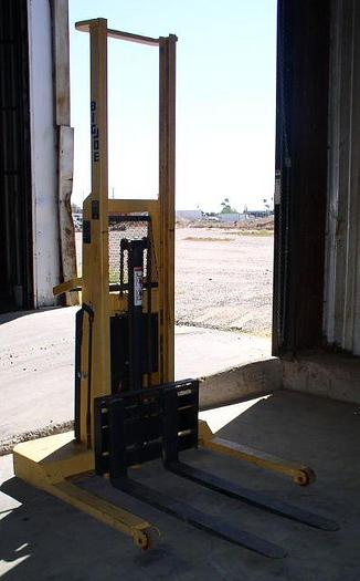Used Big Joe Model PB-2024-A07 2000 lb. Pallet Lifter; 12 volt Battery Powered